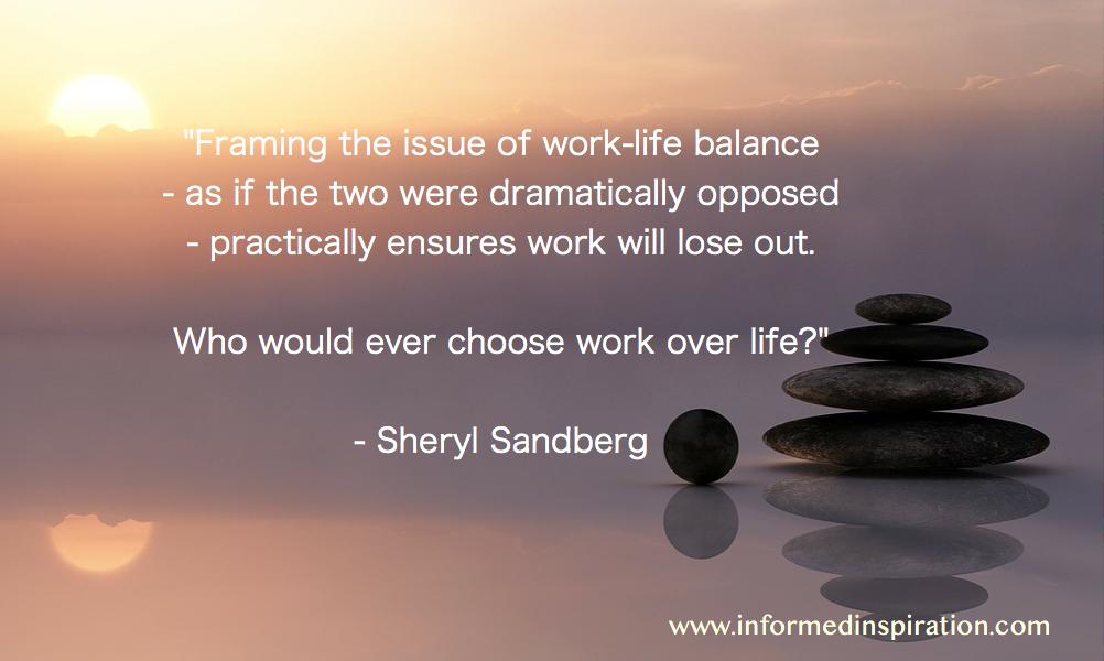 work life balance quotes - Sheryl Sandberg 1